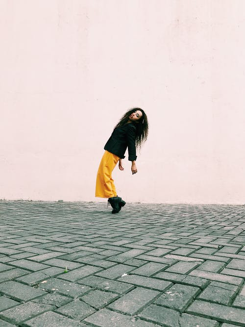 Photo Of Woman Wearing Yellow Pants