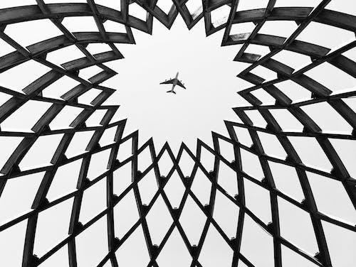 Free stock photo of abstract photo, aeroplane, black and white