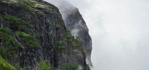 Free stock photo of cliffs, hallingdal, mist