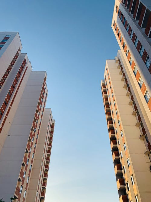 White Concrete High Rise Buildings