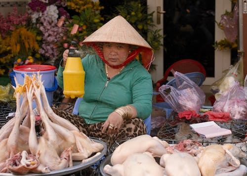 Free stock photo of asian food, asian hat, asian woman, asiatic