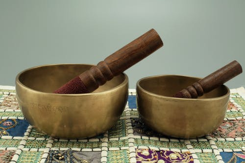 Free stock photo of antique singing bowls, buddhism, relaxation