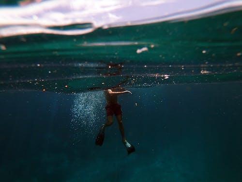 Kostenloses Stock Foto zu action, atlantisch, baden, blau