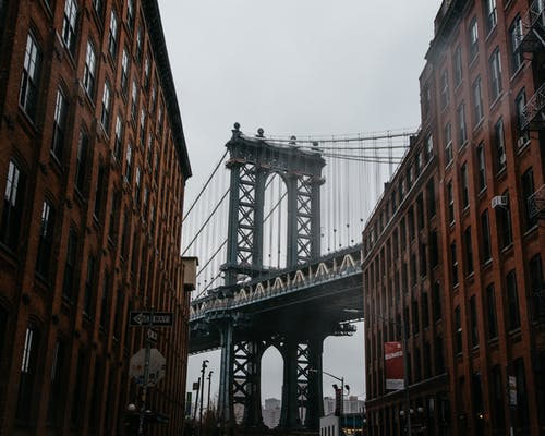 Manhattan Bridge, New York during Day