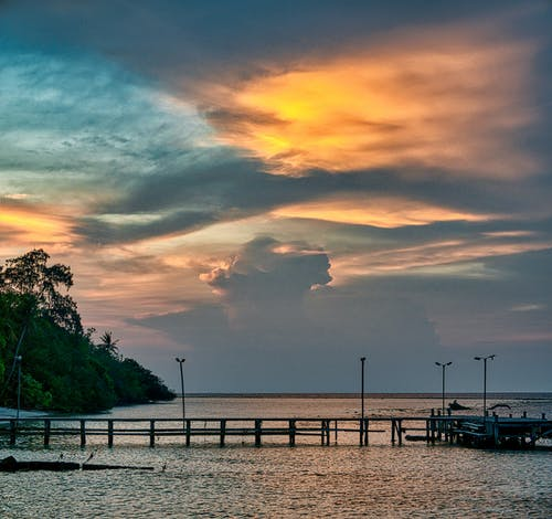 Photo Of Dock During Dawn
