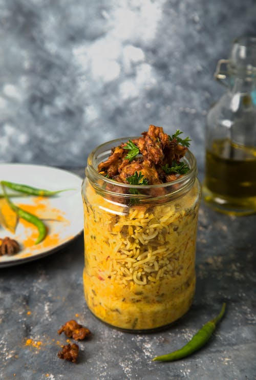 Free stock photo of food photography, glass jar, meals, vegetarian