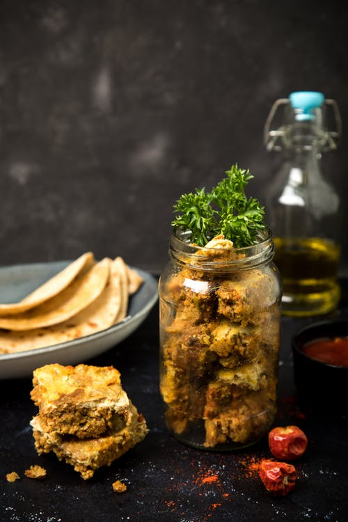 Free stock photo of foodphotography, glass jar, hot meal, mutton