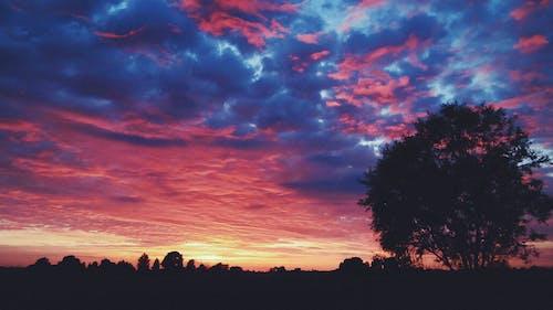 คลังภาพถ่ายฟรี ของ ข้างนอก, ตะวันลับฟ้า, ภูมิทัศน์, เมฆ