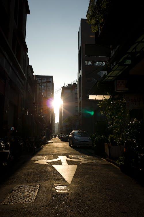 Free stock photo of building, lane, light