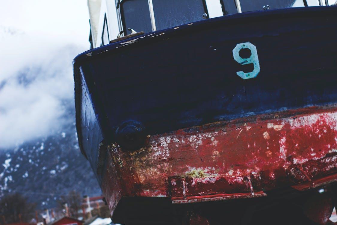 abandonado, barco, concentrarse
