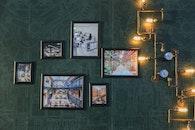light, art, wall