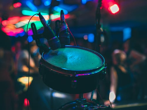 Free stock photo of celebration, coloured lights, disco, mic