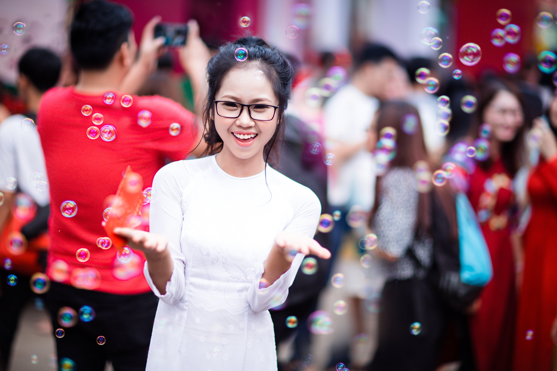 Gratis lagerfoto af asiatisk, asiatisk kvinde, Asiatisk pige, briller