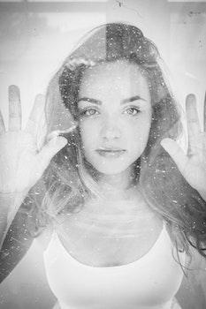 Free stock photo of black-and-white, fashion, woman, girl