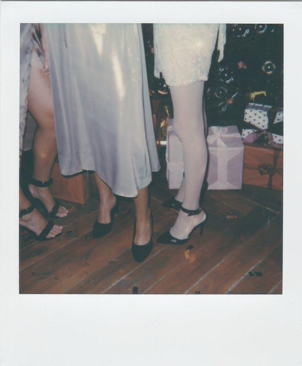 Three Women Wearing High Heels