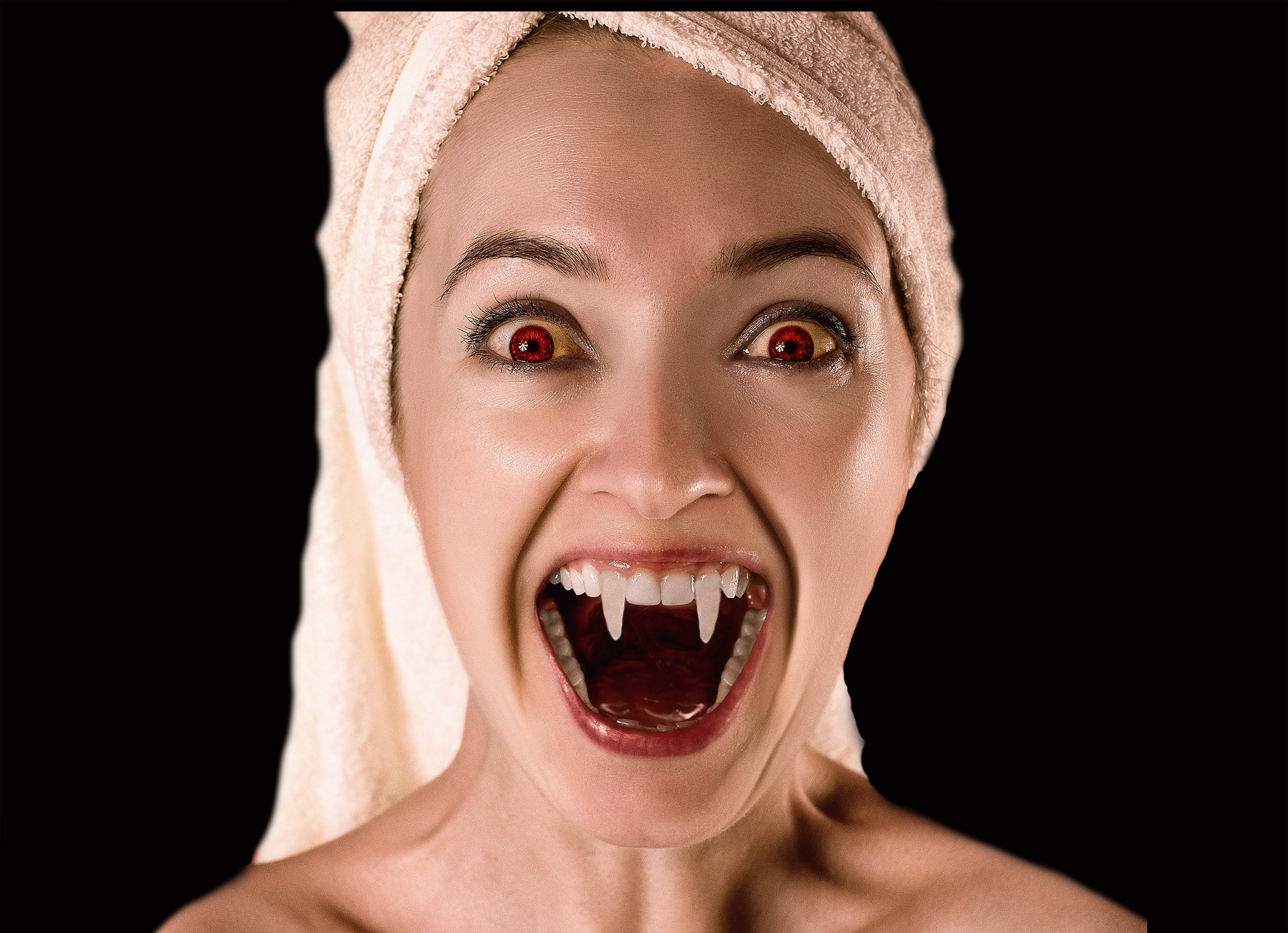 Free stock photo of red, woman, picture, vampire