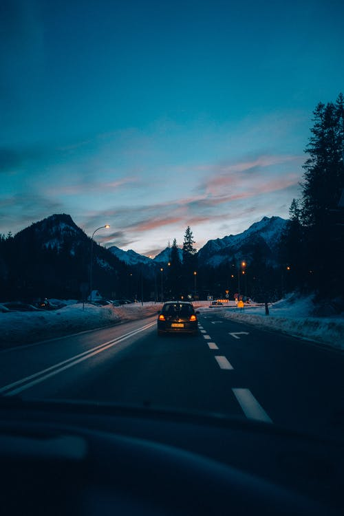 Free stock photo of automotive, car, drive, late evening