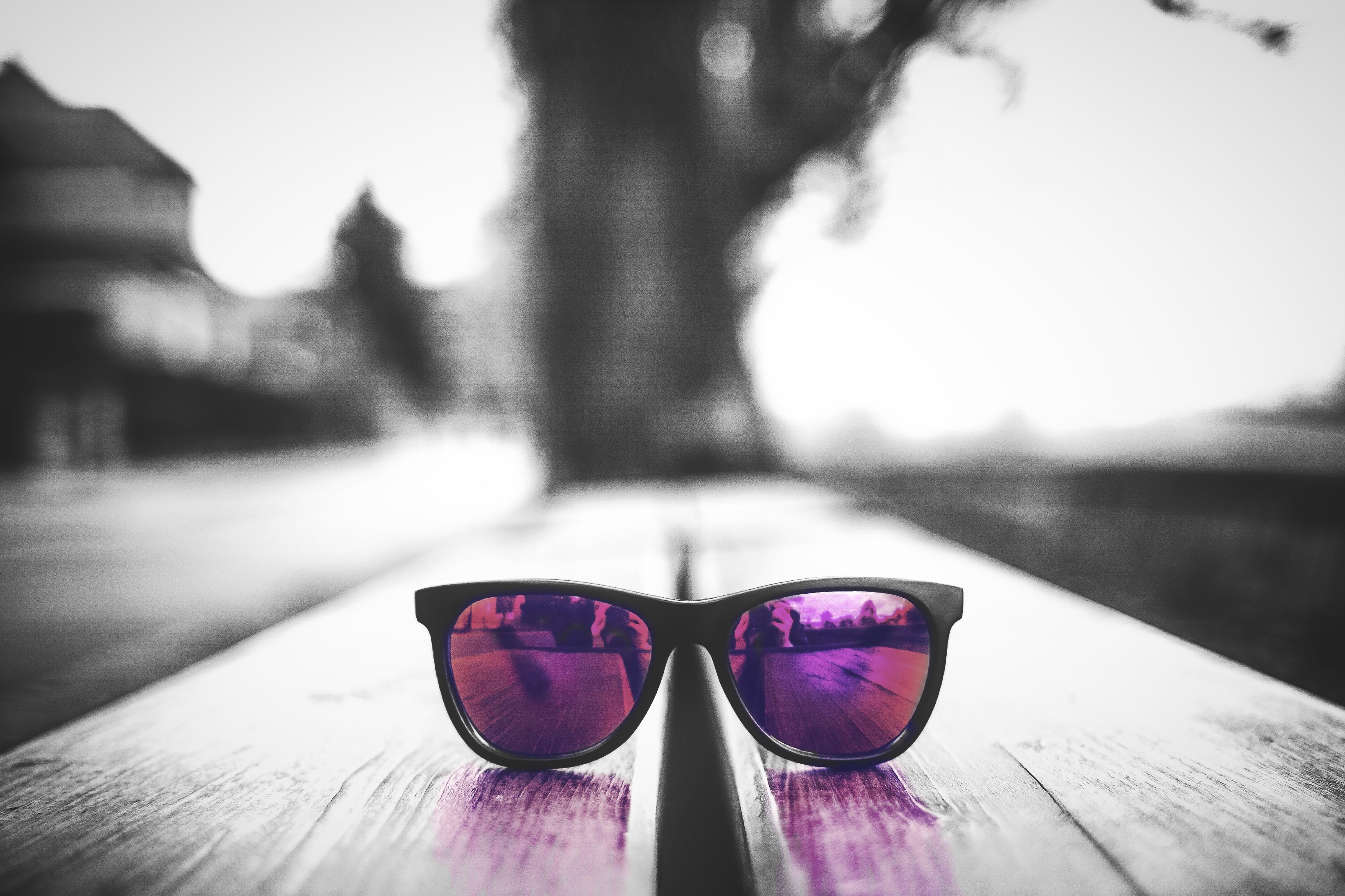 Free stock photo of black-and-white, color pop, eyeglasses, fashion