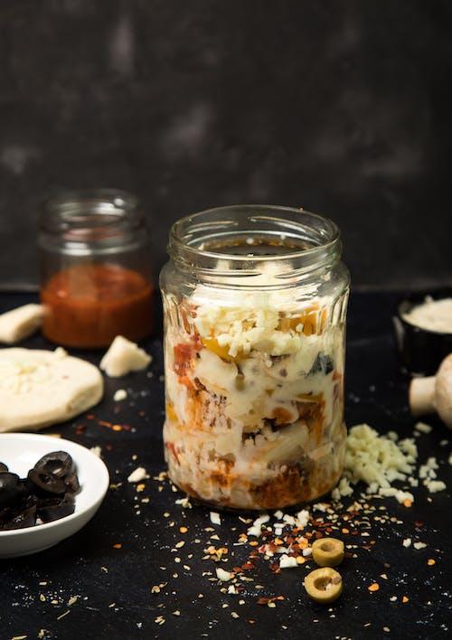 Free stock photo of foodphotography, glass jar, italian, non vegetarian