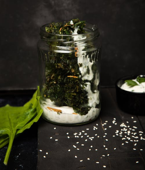 Free stock photo of crispy, foodphotography, glass jar, non vegetarian