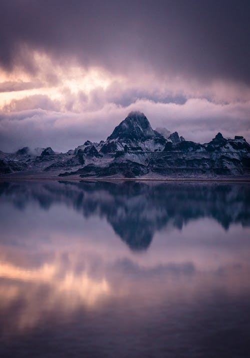 Základová fotografie zdarma na téma hora, jezero, krajina, modrá hodinka