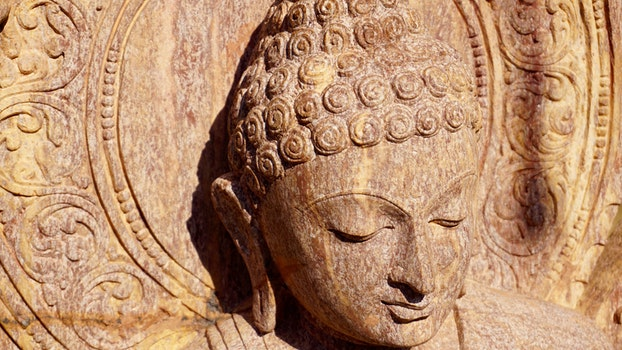 Free stock photo of face, stone, peace, carving