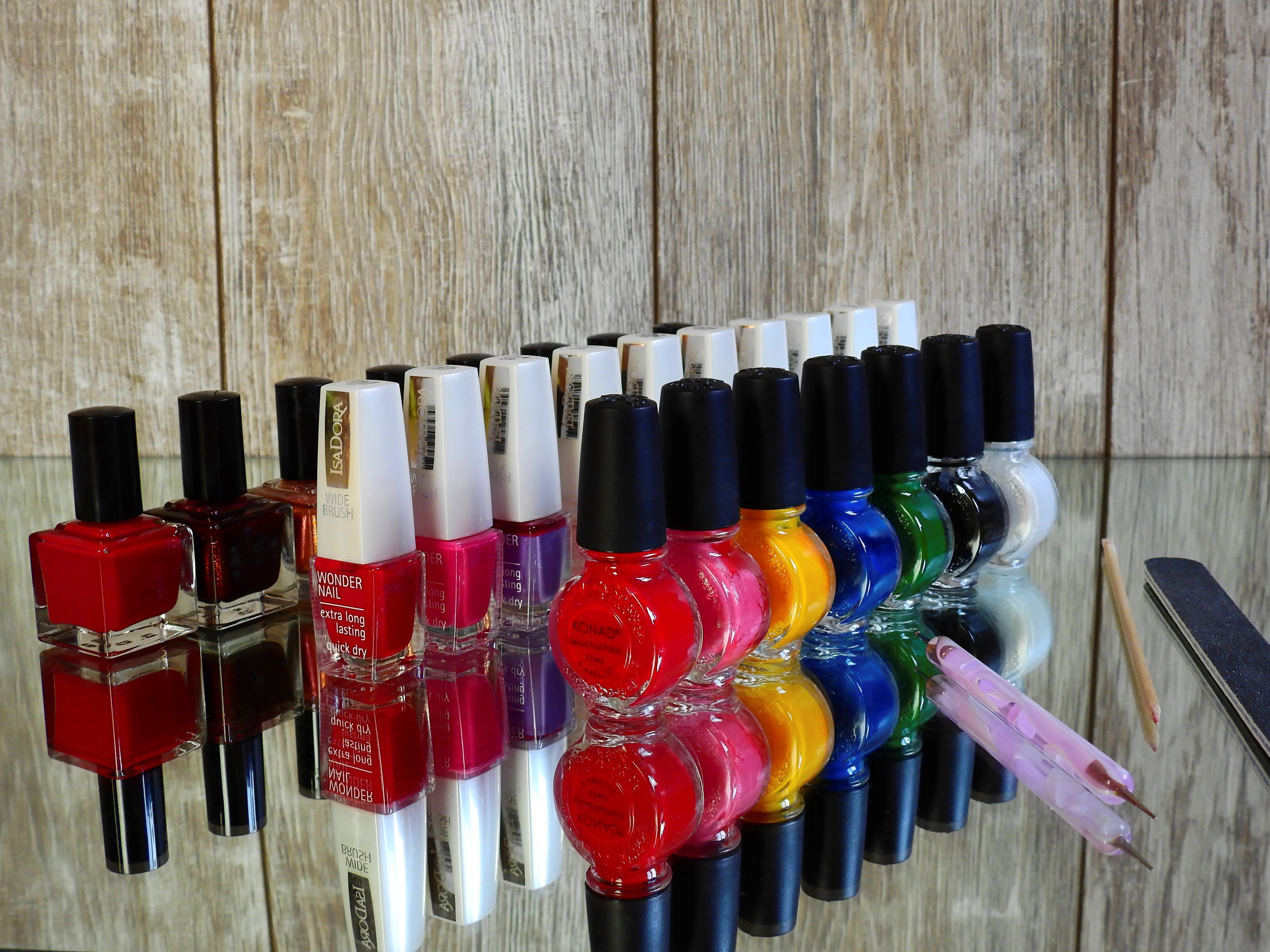 Assorted Nail Color Bottles