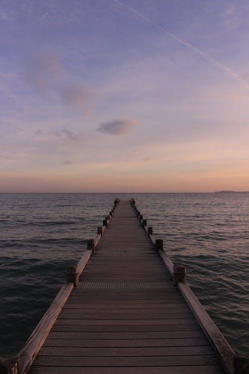 ウッドデッキ, シースケープ, ドック, ビーチの無料の写真素材