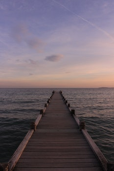 Free stock photo of jetty, sea, dawn, landscape