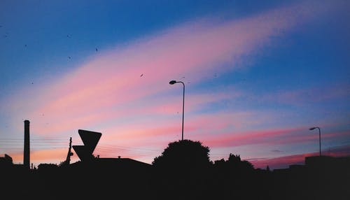 คลังภาพถ่ายฟรี ของ ข้างนอก, ตะวันลับฟ้า, ภูมิทัศน์, เมือง