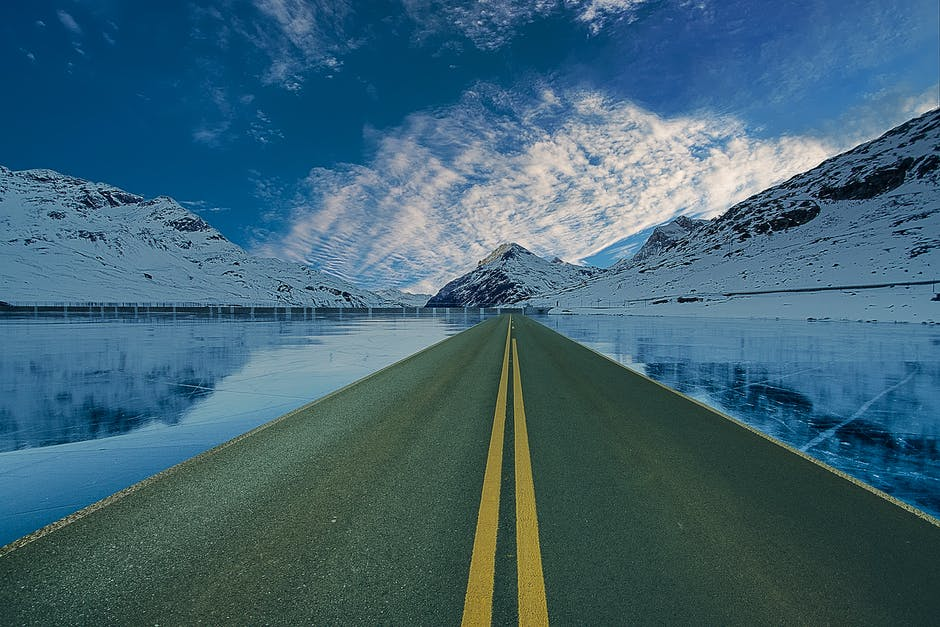 New free stock photo of cold, snow, road