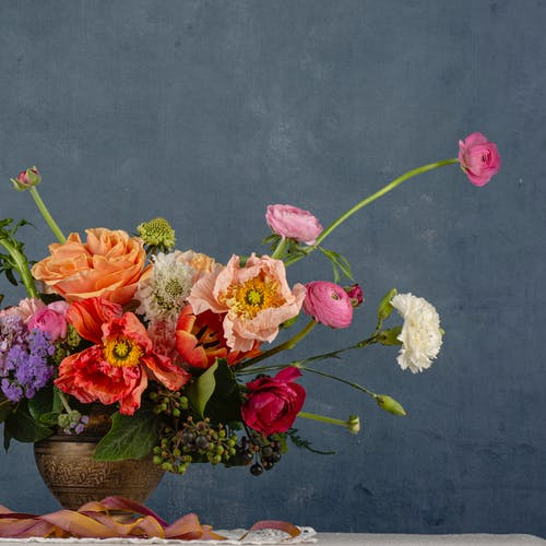 Free stock photo of floral arrangement, poppies, stillife