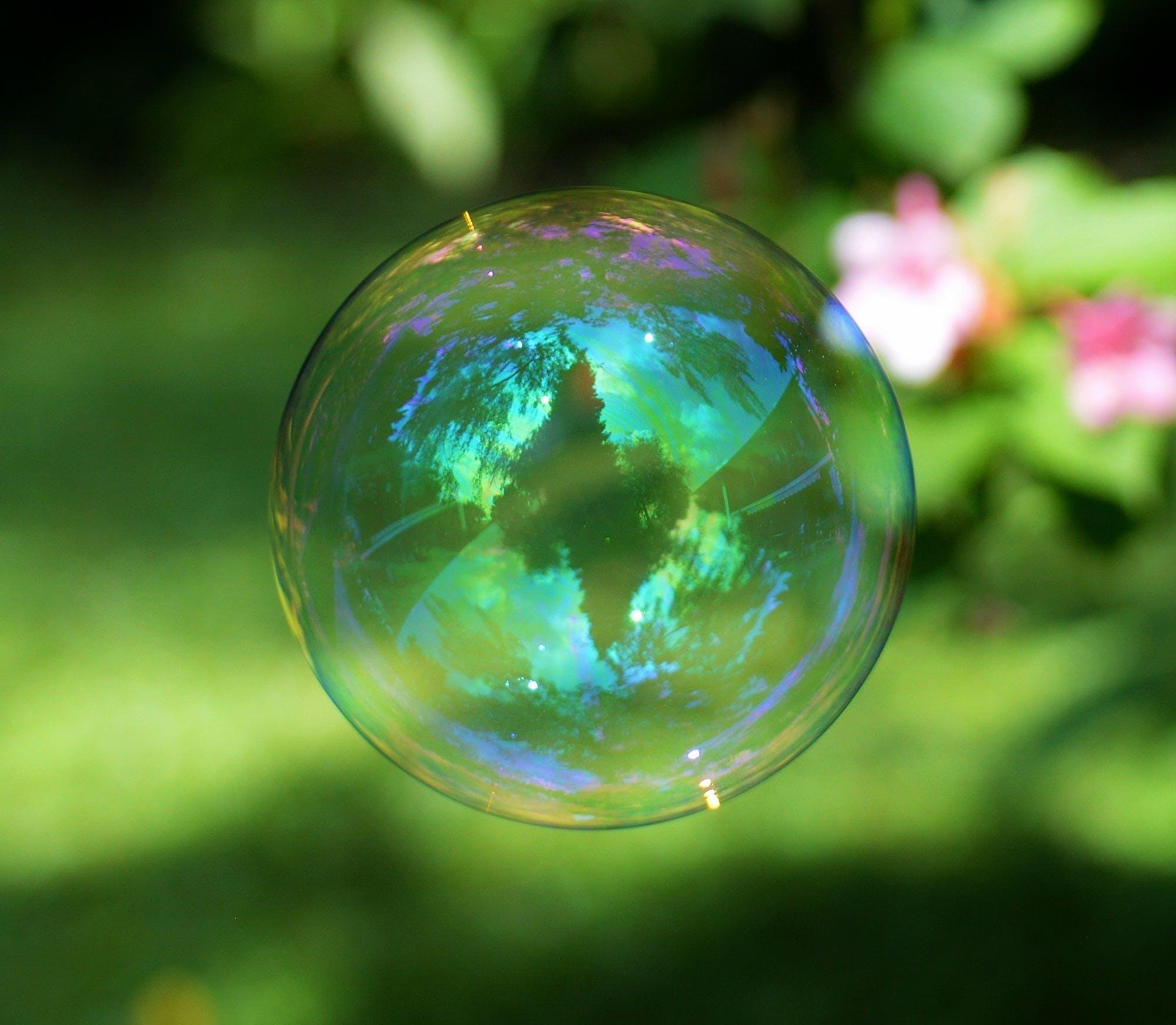 Kostnadsfri bild av bubbla, makro, närbild, reflektion