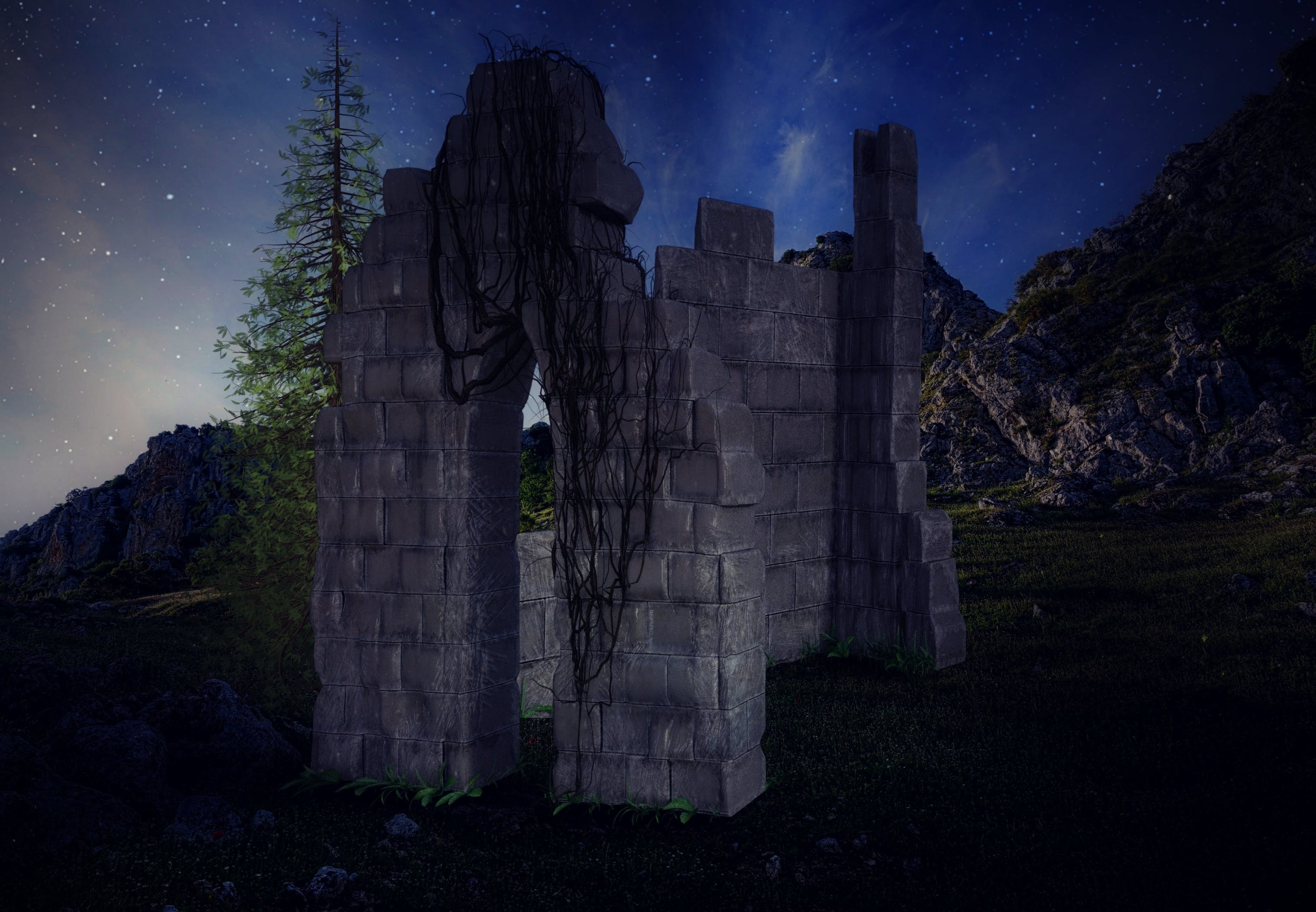 Free stock photo of landscape, mountains, nature, dark