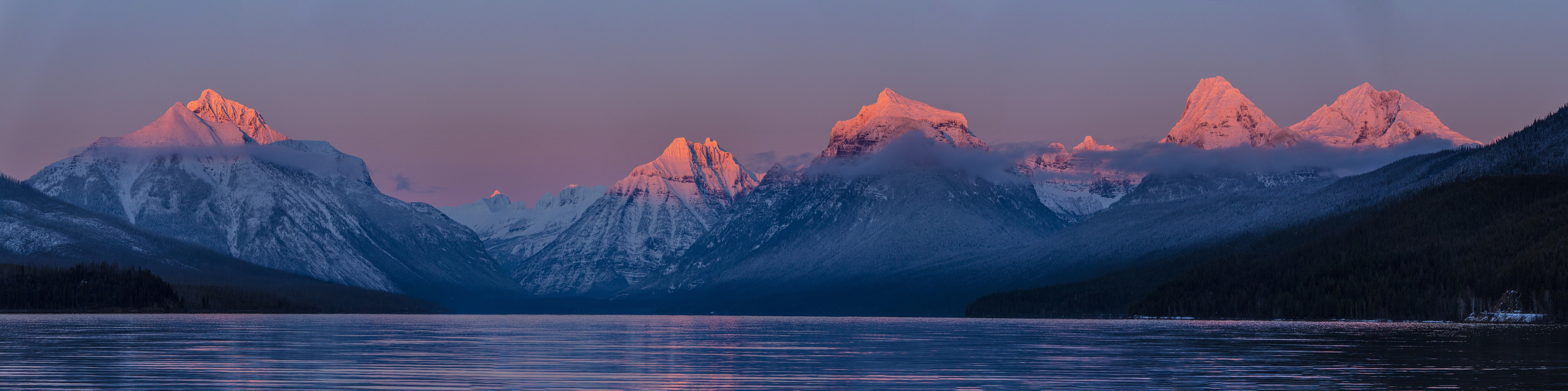 Body Of Water And Mountains Wallpaper Free Stock Photo