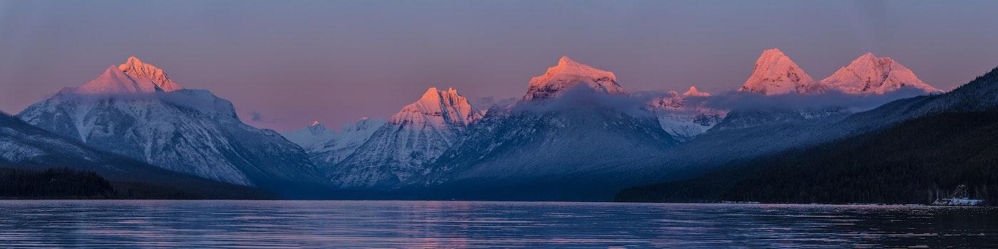 Kostenloses Stock Foto zu dämmerung, landschaft, berge, sonnenuntergang