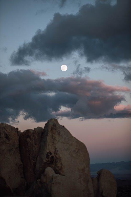 Photo of Full Moon on a Twilight Sky