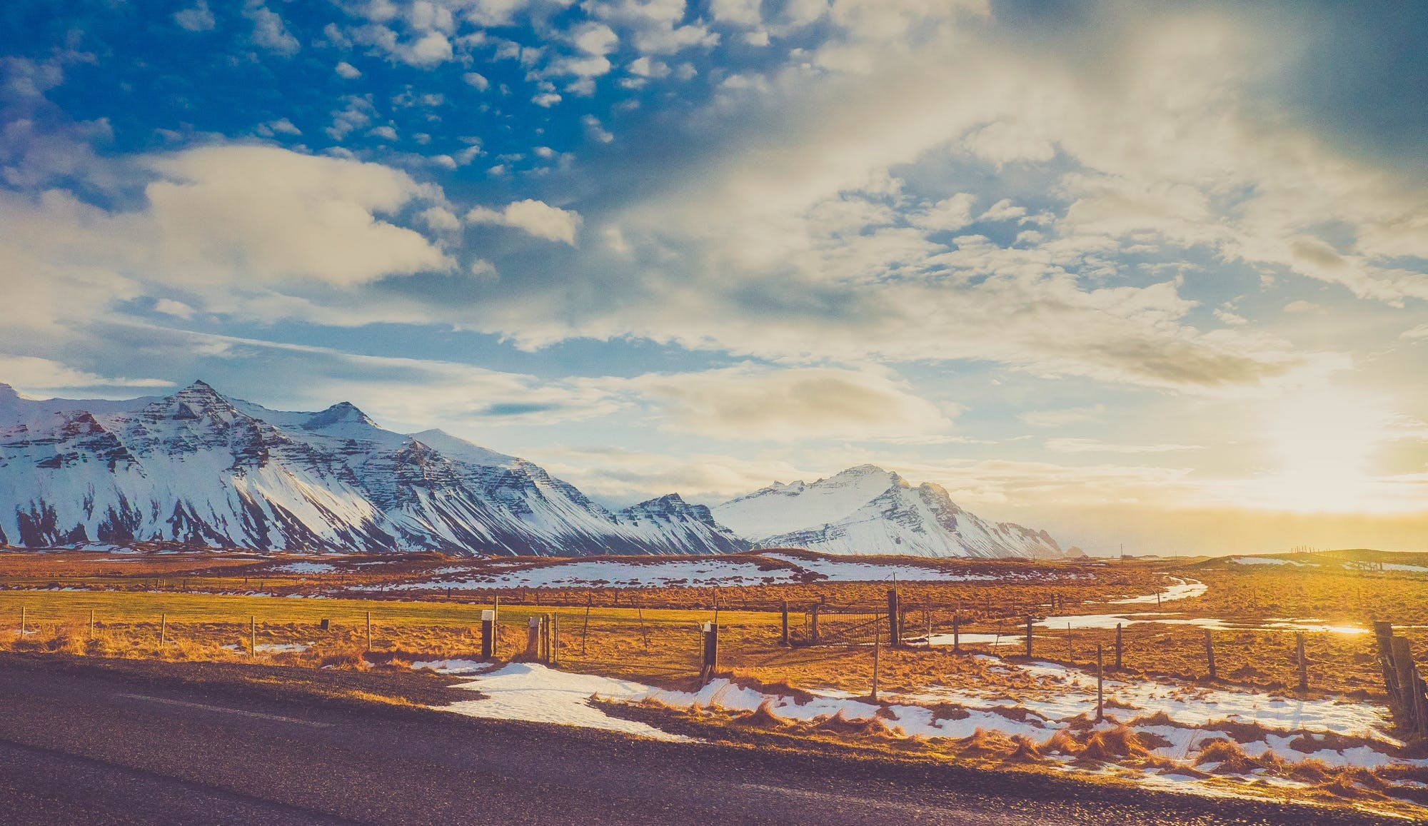 Blue Skies Above White Mountains