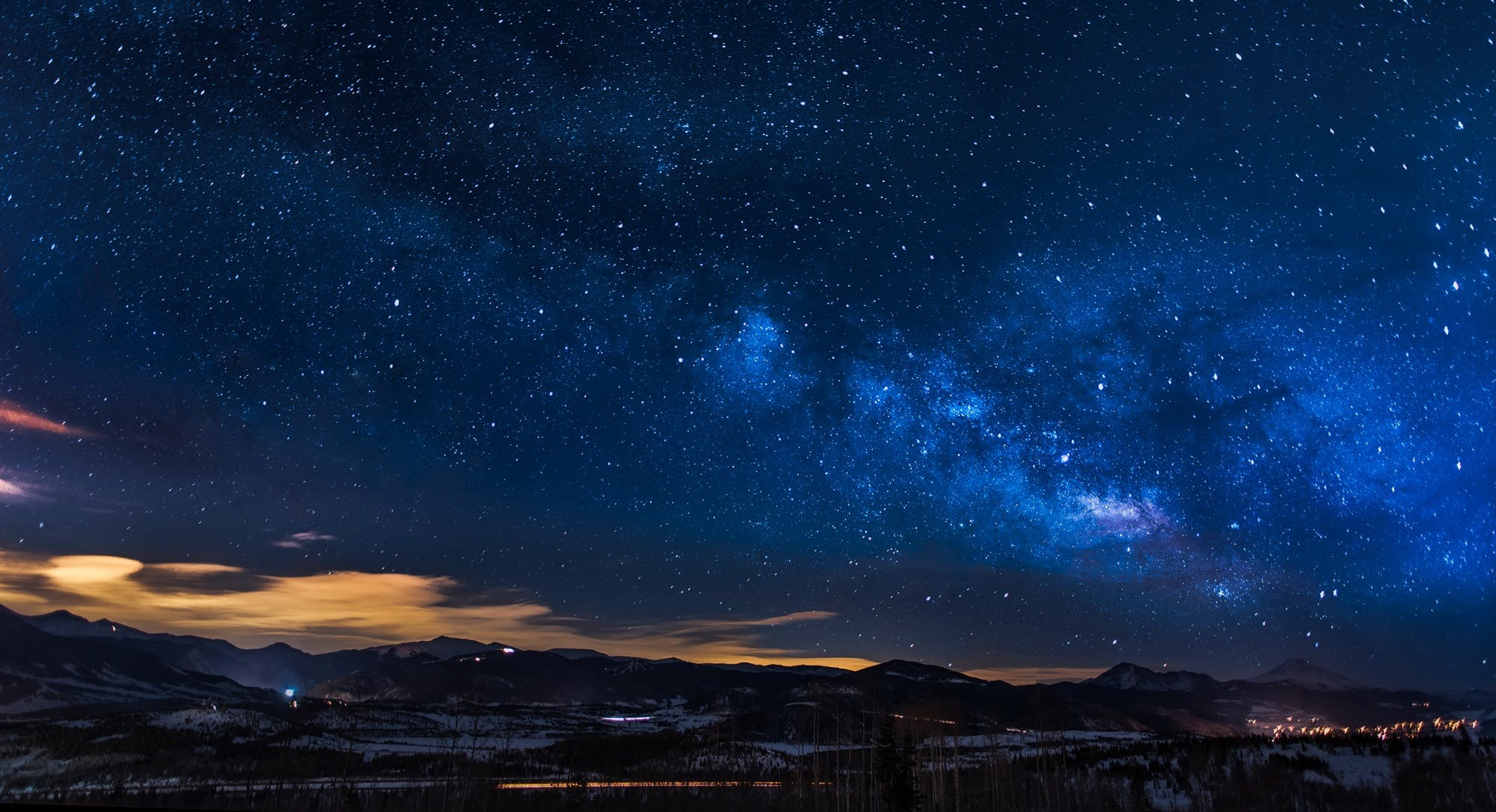 abend, astronomie, berge