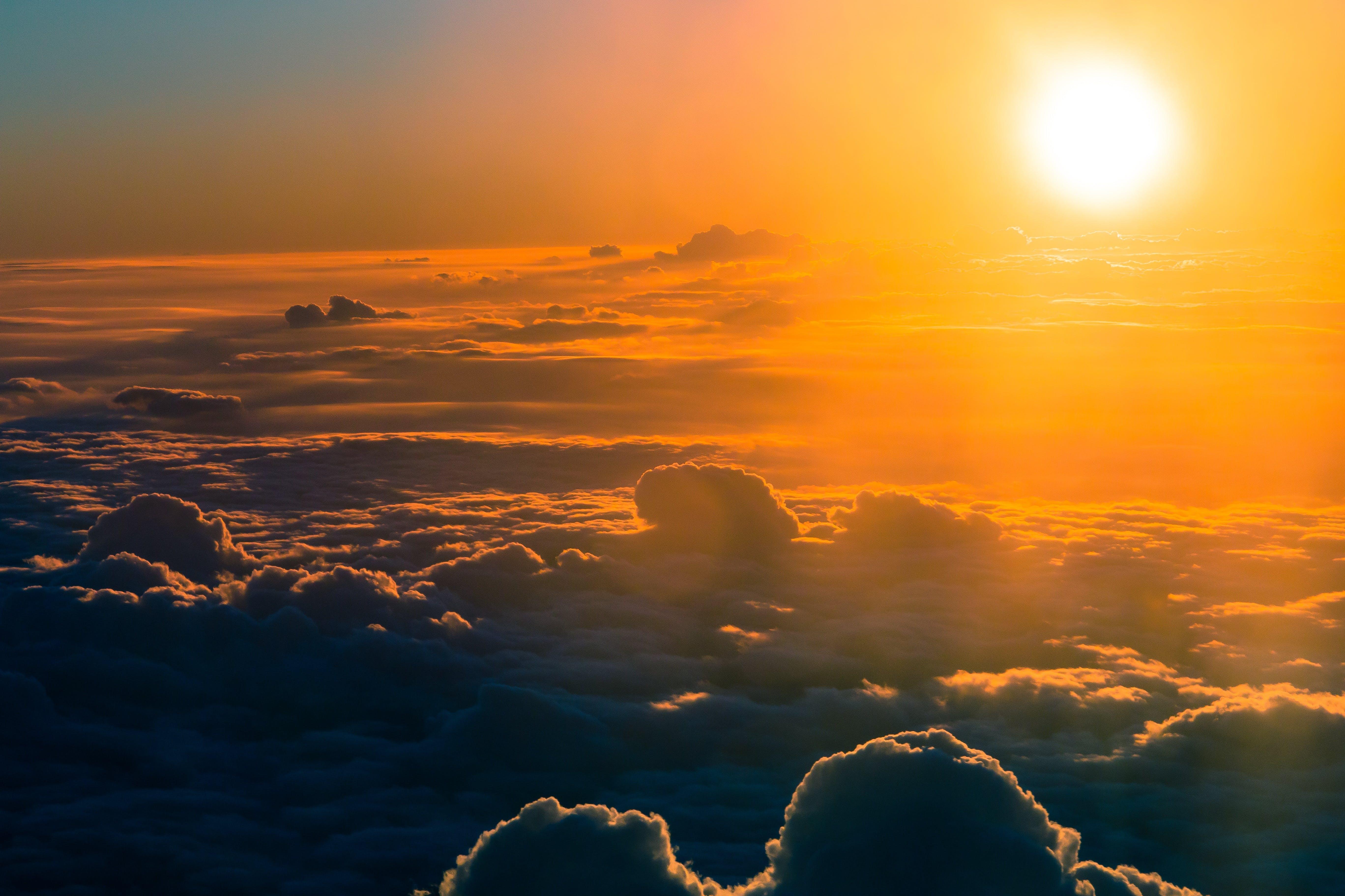 backlit, bright, clouds