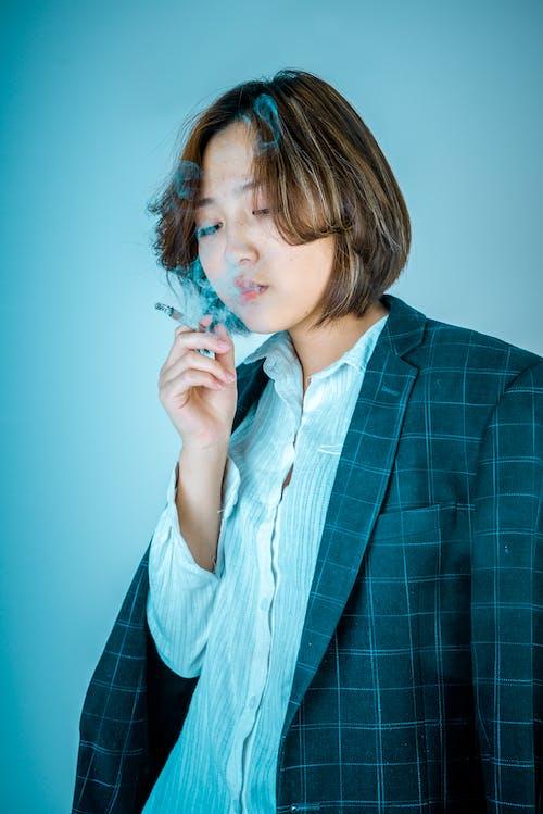 Woman Smoking Cigarette