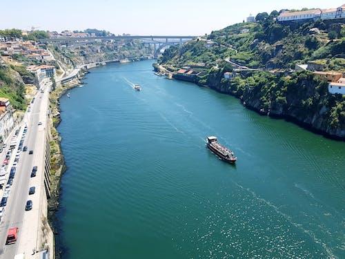 Watercraft Pass By Arrábida Bridge