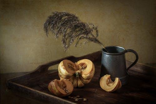 Darmowe zdjęcie z galerii z drewniany, dynia, gorąco, kubek