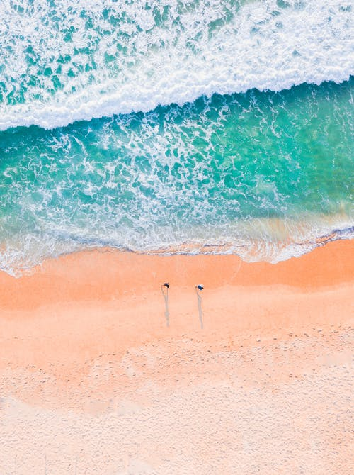 Drone Footage of a Beach