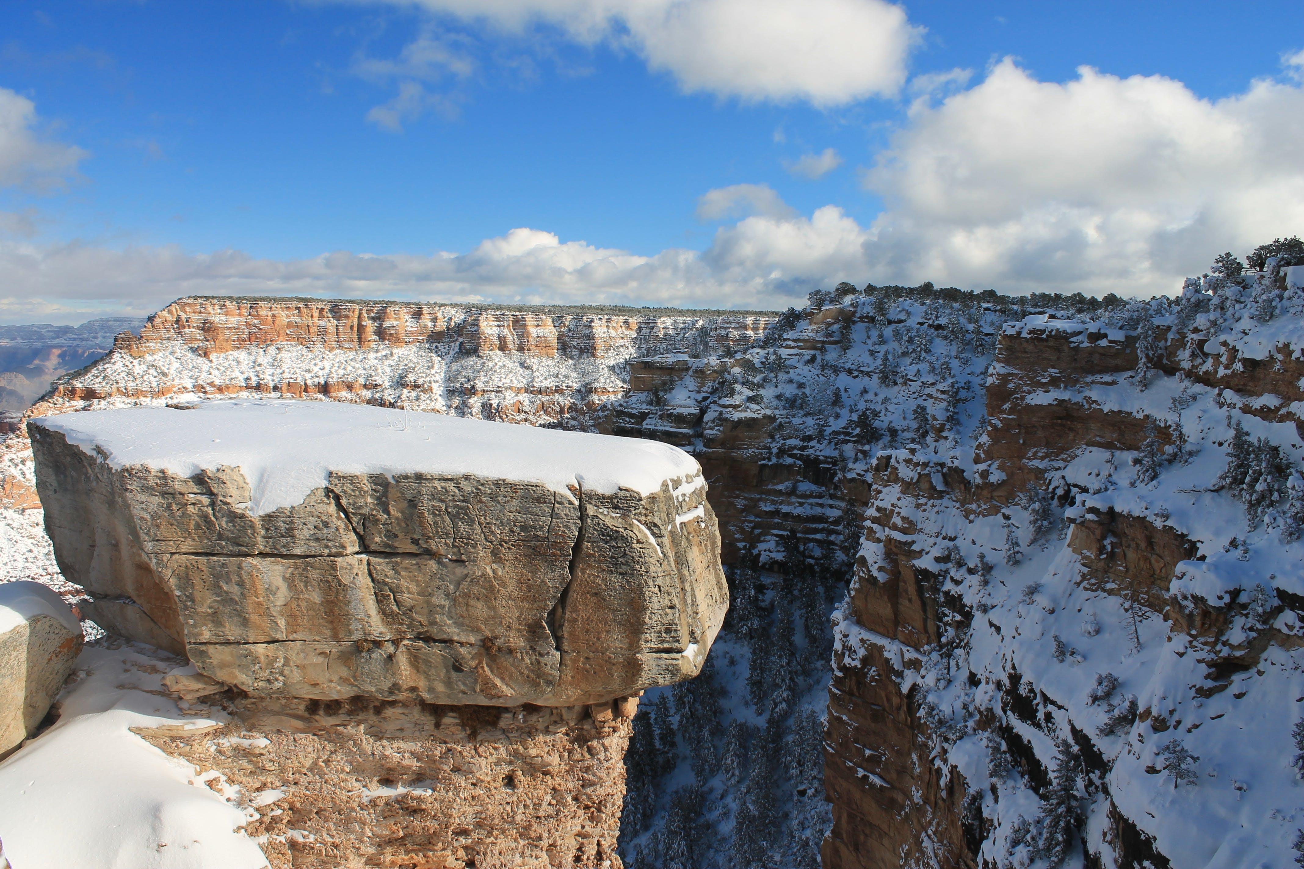 Gray Rocky Cliff
