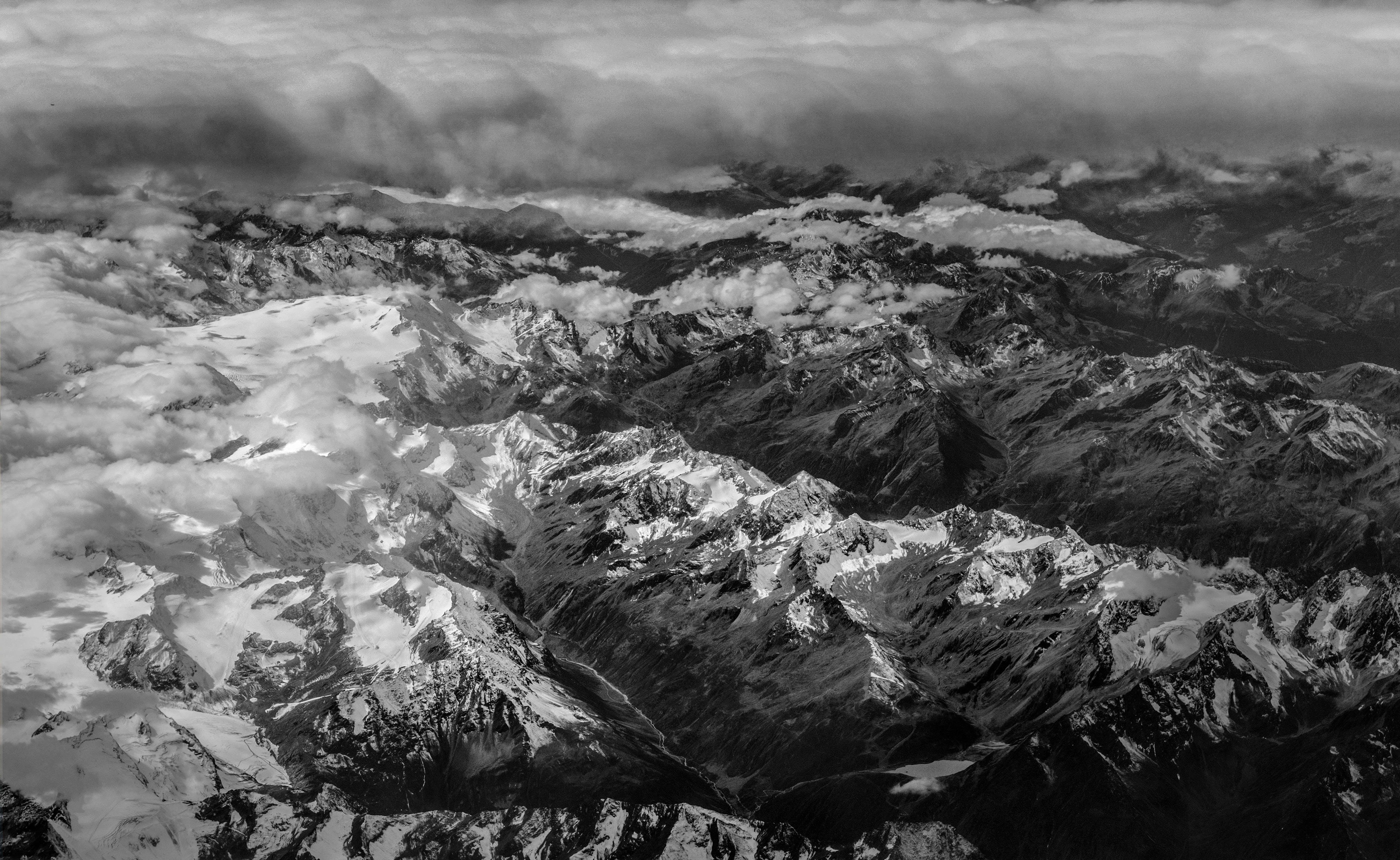 Free stock photo of cold, glacier, snow, black-and-white