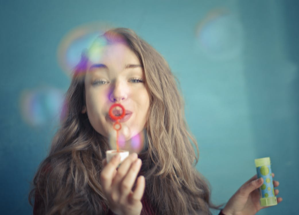 beautiful, blow, bubble