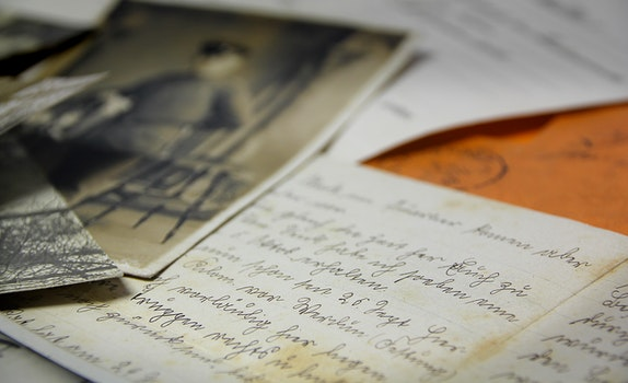 Free stock photo of vintage, document, paper, letters