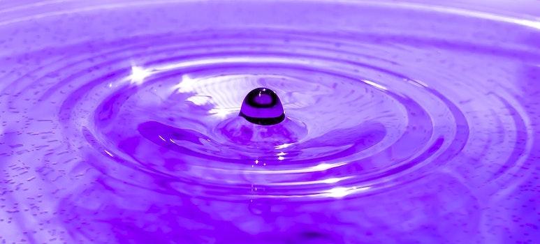 Kostenloses Stock Foto zu wasser, welle, lila, regentropfen