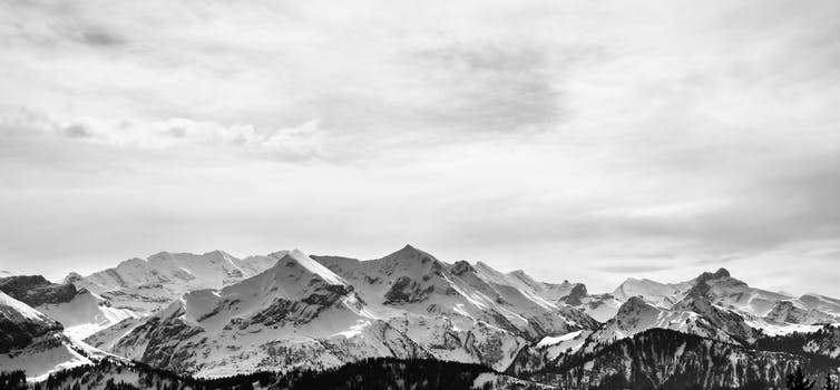 Free stock photo of cold glacier snow black and white